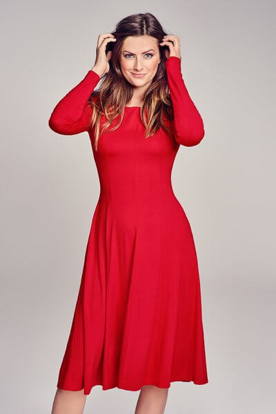 RISK made in warsaw-BLACK MUSE happy red DRESS RED-Kleid
