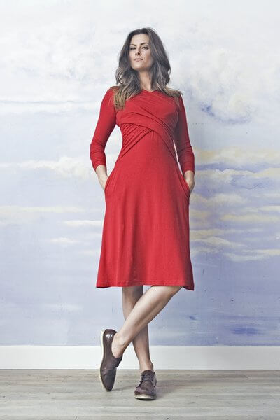 RISK made in warsaw-CROSS DREAM happy red DRESS RED-Kleid